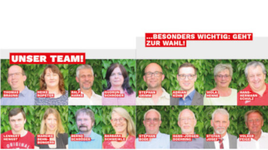 Unsere Kandidaten für die Stadtratswahl am 12.09.2021